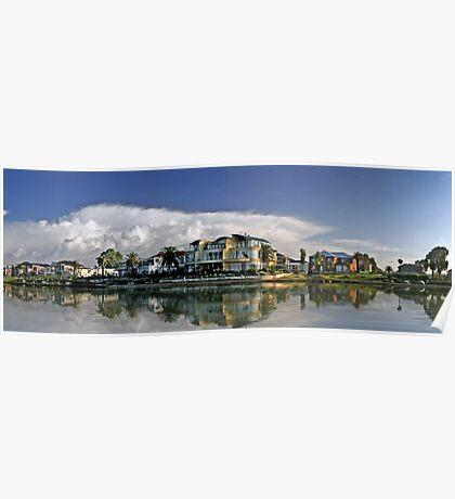 Suburban Panorama Poster