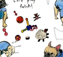 This French bulldog does not play Basketball Sticker