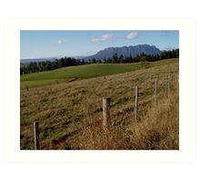photoj Tas Mt Roland Country Art Print