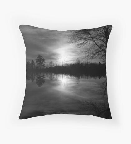 Georgia Sunset (Grayscale) Throw Pillow