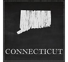 Connecticut Map Chalk Drawing Photographic Print