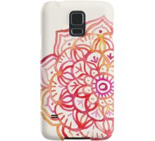 Watercolor Medallion in Sunset Colors Samsung Galaxy Case/Skin