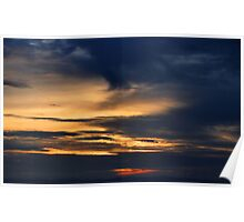 moody sunset Poster