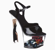 *•.¸♥♥¸.•* Hot Wheels In High Heels Steppen Out Girls Tee Shirt *•.¸♥♥¸.•* by ✿✿ Bonita ✿✿ ђєℓℓσ