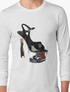 *•.¸♥♥¸.•* Hot Wheels In High Heels Steppen Out Girls Tee Shirt *•.¸♥♥¸.•* Long Sleeve T-Shirt