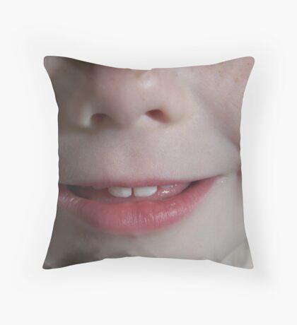 Mouth & Nose Throw Pillow