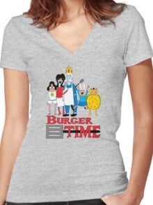 Burger Time Women's Fitted V-Neck T-Shirt