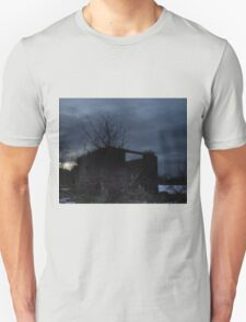 HDR Composite - Cross Lit and Backlit Abandoned Farmstead T-Shirt