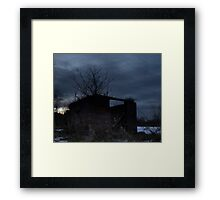 HDR Composite - Cross Lit and Backlit Abandoned Farmstead Framed Print