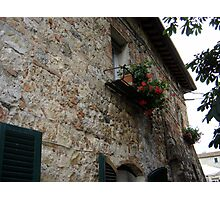 Glimpse of Tuscan balcony Photographic Print
