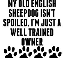 Well Trained Old English Sheepdog Owner by kwg2200