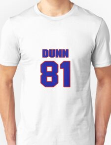 National football player Damon Dunn jersey 81 T-Shirt