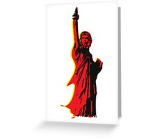 Strange statue of Che Greeting Card