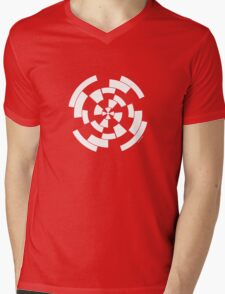 Mandala 10 Simply White Mens V-Neck T-Shirt