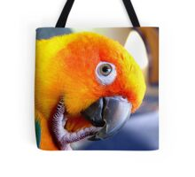 Hmmm....Should I Go Android Or Apple? - Sun Conure NZ Tote Bag