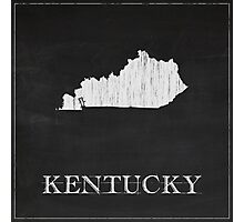 Kentucky Map Chalk Outline Photographic Print
