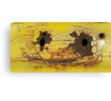 Bullet Holes on Cracked Yellow Canvas Print