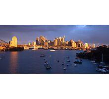 Glow - Sydney Harbour & Skyline, Australia Photographic Print
