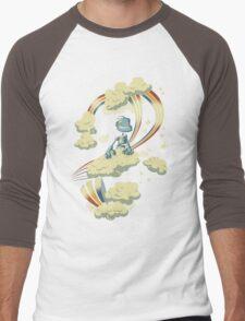 Flying Robot Men's Baseball ¾ T-Shirt