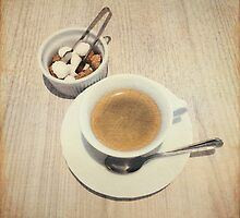 Cup of Coffee and Sugar Cubes For You by Beverly Claire Kaiya
