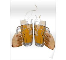 Cheers, with two beers Poster