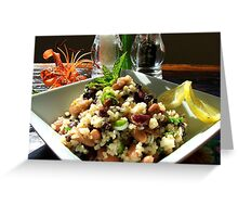 Aspire For Life - Brown Rice And Bean Salad - NZ Greeting Card