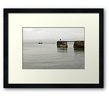 Pirate Ship and Whitby West Breakwater Framed Print