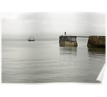 Pirate Ship and Whitby West Breakwater Poster