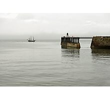 Pirate Ship and Whitby West Breakwater Photographic Print