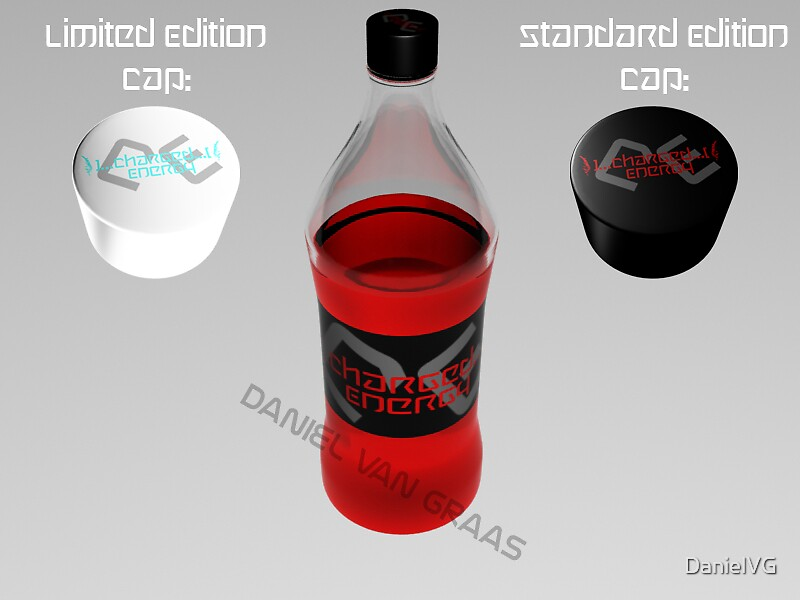 Charged Energy 3d Bottle by DanielVG