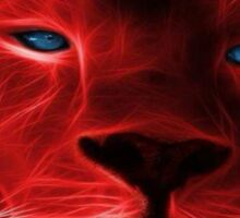 Electric Red Lion Sticker