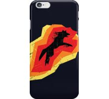 Fire Wolf (Texture) iPhone Case/Skin