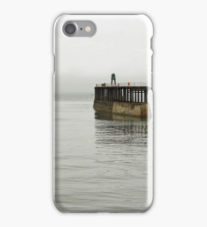 Pirate Ship and Whitby West Breakwater iPhone Case/Skin