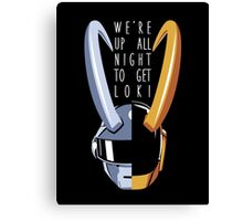 Up All Night to Get Loki Canvas Print