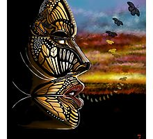 Butterfly woman Photographic Print