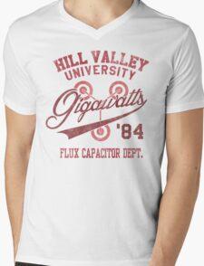 Hill Valley University Mens V-Neck T-Shirt