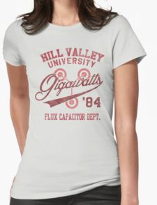 Hill Valley University Womens Fitted T-Shirt