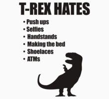 T-Rex Hates Bullet List Kids Clothes