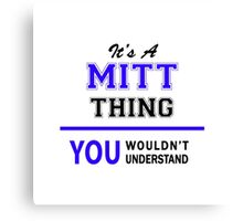 It's a MITT thing, you wouldn't understand !! Canvas Print
