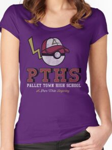 Pallet Town High School Women's Fitted Scoop T-Shirt