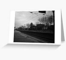 Dark railway Greeting Card