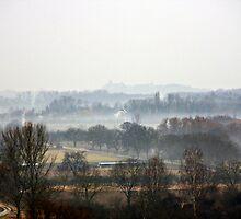 Rhine valley fog by Jörg Holtermann