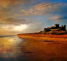 Bamburgh Castle at Daybreak by Tarrby