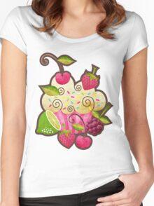 Tutti Frutti Cupcake Women's Fitted Scoop T-Shirt