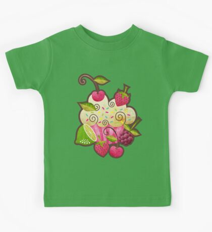 Tutti Frutti Cupcake Kids Tee