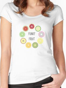 Funky Fruit Circle Women's Fitted Scoop T-Shirt