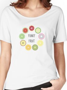 Funky Fruit Circle Women's Relaxed Fit T-Shirt