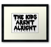 The kids Framed Print