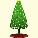 Christmas tree postcard by Alexandra Salas