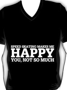 Happy Speed Skating T-shirt T-Shirt